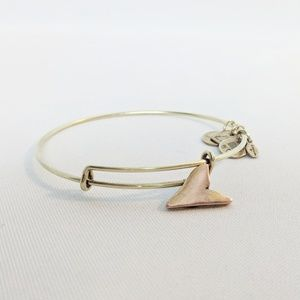 Alex and Ani Gold Shark Tooth Bracelet